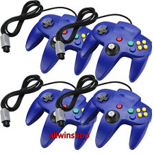 Lot 4 x New Blue Long Controller Game System for Nintendo 64 N64 USA Ship