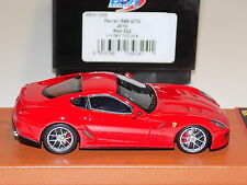 1/43 BBR Ferrari 599 GTO Fiorano from 2010 in Red 322 on tan Leather Base
