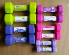 Cap Barbell Neoprene Dumbbell Pairs 1, 2, 3, 4, 5 lbs NEW dumbbells Fractional