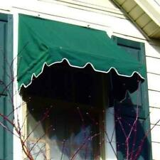 Kelly Ironworks Aluminum DIY Retractable 6' Green Window/Door Canopy Awning