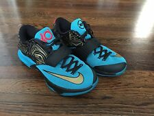 2014 Nike Zoom KD VII 7 N7 size 8.5 w/ Box turquoise gold, durant kobe authentic