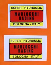 DUCATI BEVEL/NCR  TWINS/SINGLES MARZOCCHI RACING DECALS PAIR  EARLY BEVEL MODELS