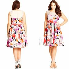 Nordstrom City Chic Fit & Flare Dress Spring Easter Wedding Plus Size 22 24 XL