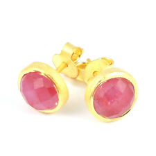 Pomegranate London SALE! 18ct Gold Vermeil Ruby Stud Earrings (RRP £39)