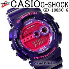 CASIO G-SHOCK MENS DIGITAL WATCH GD-100SC-6 FREE EXPRESS PURPLE GD-100SC-6DR