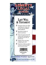 Last Will & Testament - USA - Do-it-Yourself Legal Forms by Permacharts