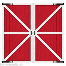 Farm Farmyard Animals Children's Party Scene Setter Add-On Props - BARN DOORS