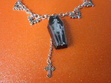 Day Of The Dead Coffin Charm Necklace