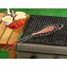 BBQ Collection Fish Basket With Soft Grip Handle Non Stick BBQ Basket for Fish