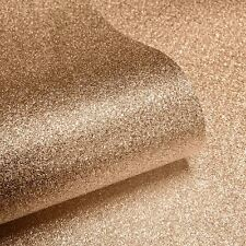 Texturé sparkle papier peint-cuivre-Muriva 701374 paillettes marron