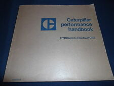 CAT CATERPILLAR EXCAVATOR PERFORMANCE HANDBOOK BOOK MANUAL