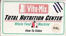 PAL VHS VIDEO TAPE :VITA-MIX TOTAL NUTRITION CENTRE, HOW-TO-VIDEO