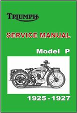 TRIUMPH Owners Workshop Manual Model P 1925 1926 1927 Service and Repair