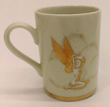 Walt Disney Gallery TINKERBELL fairy metallic gold accent coffee mug cup Japan