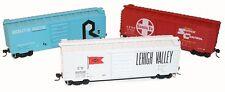 Accurail  SF - LV - RI (RED, WHITE, BLUE) 40' PS-1 Box Car KITS (3 car set) NIB