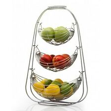 3 Tier Fruit Stand Basket Storage Counter Top Display Rack Home Kitchen Holder