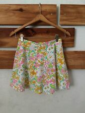 Womens Small Bright Floral Circle Skirt Forever 21