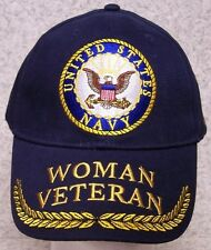 Embroidered Baseball Cap Military Woman Warrior Navy Veteran NEW 1 hat fit all