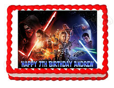 Star Wars The Force Awakens party edible cake image cake topper frosting sheet