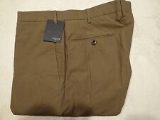 NWT Incotex Lightweight Cotton Flat Front Light Brown Mens Chino Pants 38 $395