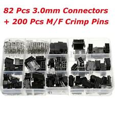 82Pcs 3.0mm Jumper Conectores + 200Pcs Rizar Pins con Case Macho Hembra 1x2~2x5