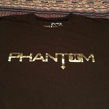 HURLEY PHANTOM GOLD FOIL T-Shirt XL SURFER SURFING 100% COTTON BROWN TEE