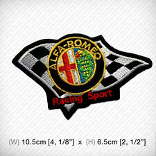 New ALFA ROMEO Embroidered Patch Iron on or sew Sports Racing Car Motor Victory