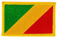 PATCH ECUSSON BRODE DRAPEAU CONGO  INSIGNE THERMOCOLLANT NEUF FLAG PATCHE
