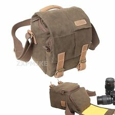 Canvas Walkabout Shoulder Messenger Camera Bag For Fuji FinePix HS50EXR
