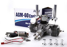 AGM60 60cc Twin Cylinders Gas petrol Engine with CDI Ignition & muffler VS DLE60