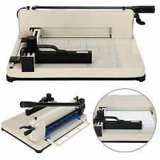 """Heavy Duty 17"""" Guillotine Paper Cutter A3/A4 Trimmer Sheet Metal Base Commercial"""