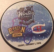 PAUL BYRON SIGNED MONTREAL CANADIENS 2016 WINTER CLASSIC PUCK W/CASE COA