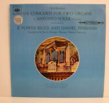 ANTONIO SOLER SIX CONCERTI FOR TWO ORGANS E. POWER BIGGS DANIEL PINKHAM LP e436