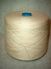 CONE  50/50 %  WOOL/RAYON YARN  2/PLY ~ NATURAL