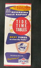 1964 Lancaster Saint John tide tables  n/map Irving  gas oil Canada see falls NS