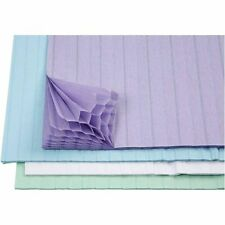 Concertina Paper - 8 sheets - Pastel Blue Lilac White Decoration Card Honeycomb