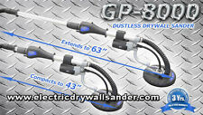 GP-8000 Telescoping Dustless Electric Drywall Sander Variable Speed with 30 pads