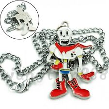Cool 1PCS Undertale Papyrus Skeleton Necklace Pendant Cosplay Costume Collection