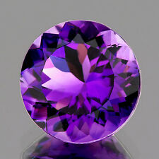 FLAWLESS ROUND 10mm AAA++ PURPLE AMETHYST NATURAL GEMSTONE BRAZIL