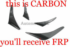 FRP JUN Front Bar Bumper Canard Fit For 03-07 Mitsubishi Evolution EVO 8 9