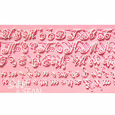 M0894 Russian Handwriting letters fondant silicone cake mold decoration Tool
