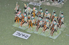 25mm napoleonic french chasseur a cheval 12 cavalry (7642) painted metal