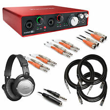 Focusrite Scarlett 6i6 (2nd Gen) USB Audio Interface BONUS PAK
