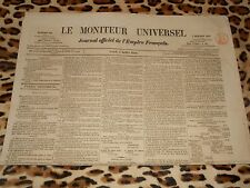 LE MONITEUR UNIVERSEL, journal officiel de l'empire français, n° 186, 05/07/1858