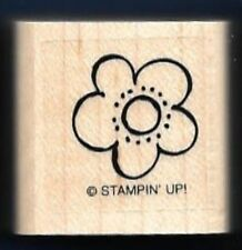 FLOWER Daisy Design occasion card Stampin' Up!  wood mount RUBBER STAMP