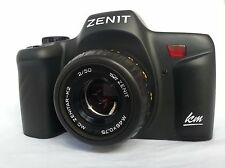 Zenit-KM New 35mm SLR Film Camera with lens ZENITAR 2/50 (Pentax K PK Mount)