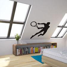 Jugador de tenis Vinilo Pared Arte Calcomanía Para La Decoración Del Hogar/Diseño de Interiores/dormitorio..