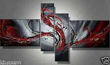 4pc Abstract Huge Wall Decor Oil Painting On Canvas Art (no frame)