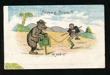 Animals BEAR Beppo and Bruin V pre1919 Unposted PPC