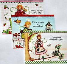 3 ADORABLEL QUALITY ANGEL FRIENDS BLANK CORRESPONDENCE NOTE CARDS